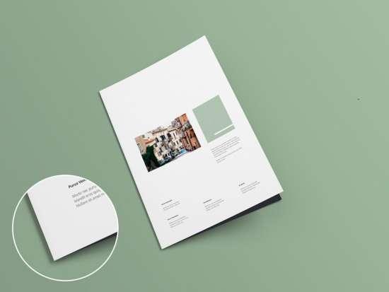 a4 bifold brochure mockup v1.0