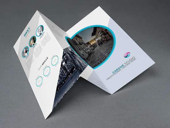 creative trifold brochure template
