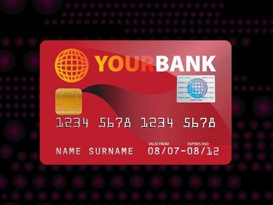 free credit card mock up vector