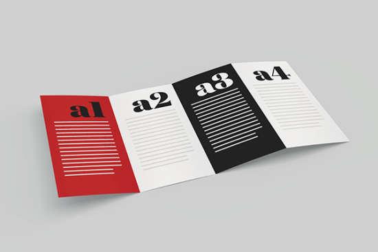 fold brochure mockup