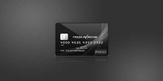 free glossy credit card mockup psd
