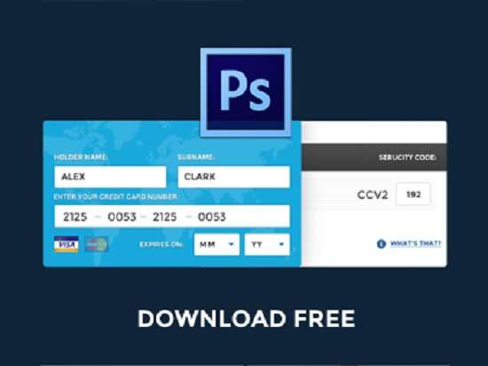 free psd fill credit card online data