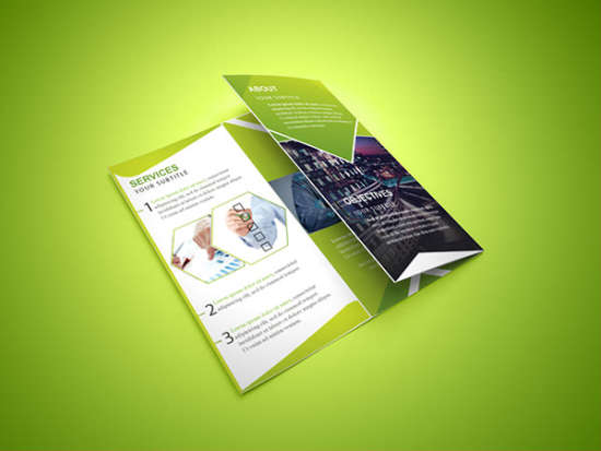 free trifold corporate brochure
