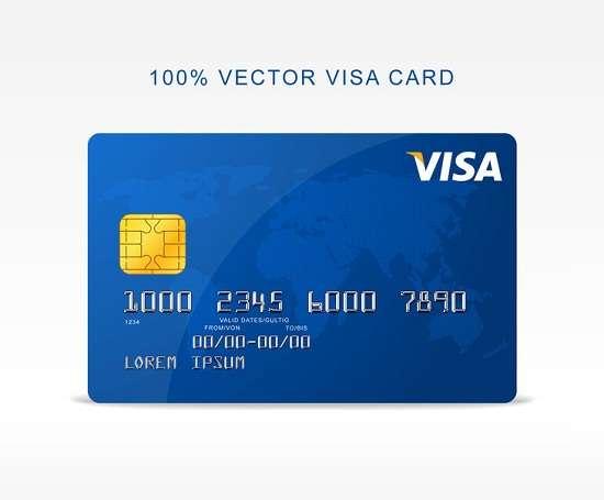 free vector visa credit card