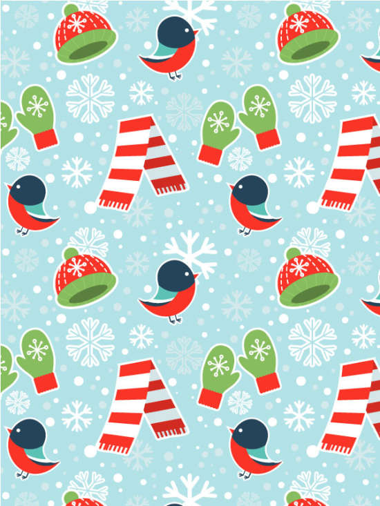 cute winter seamless pattern tutorial
