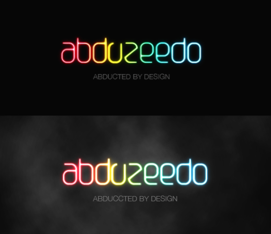 shining neon text impact free photoshop text effect tutorial