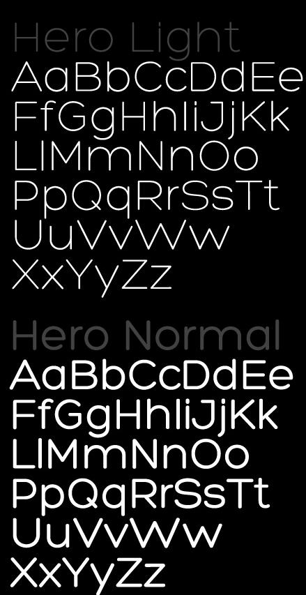 hero free font