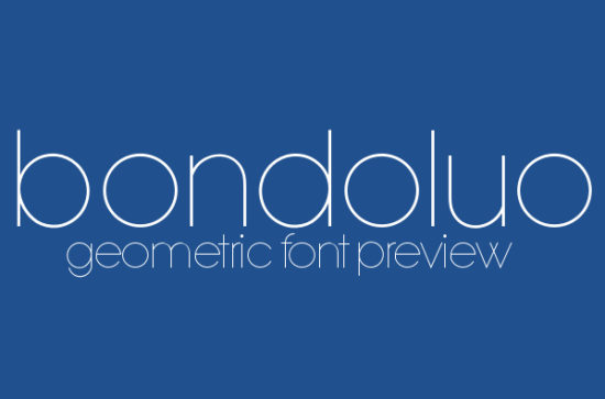 bondoluo peek super sleek font