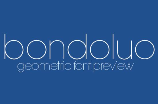 bondoluo peek super sleek font