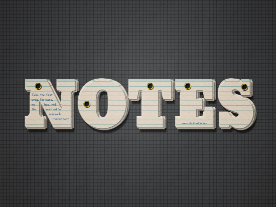 note cards text effect free photoshop text effect tutorial