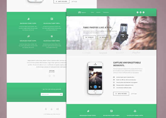 capture free bootstrap html template