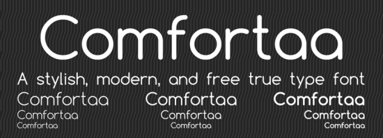 comfortaa free sleek fonts
