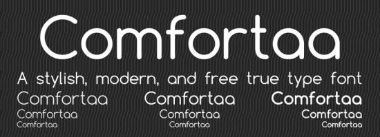 comfortaa free sleek fonts