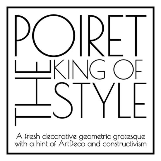 poiret sleek and simple font