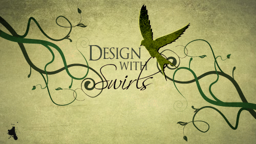 how to design with swirls and flourishes