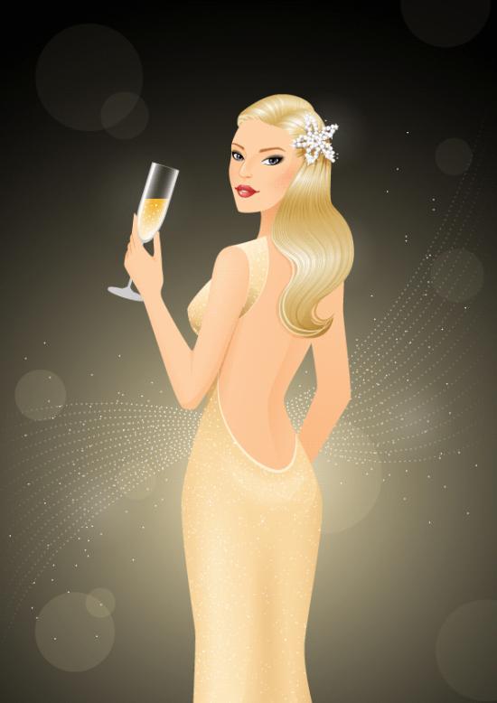 glamorous woman illustration tutorial