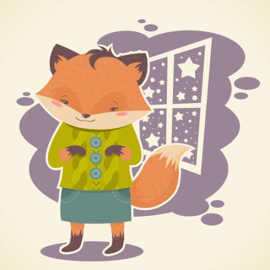 subtle textured flat fox illustration tutorial