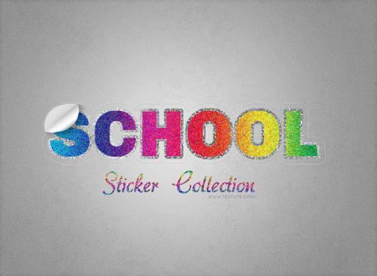 vintage sparkly sticker text impact free photoshop text effect tutorial