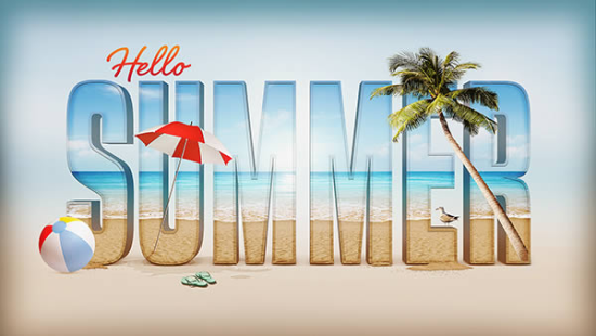 summer time design free photoshop text effect tutorial