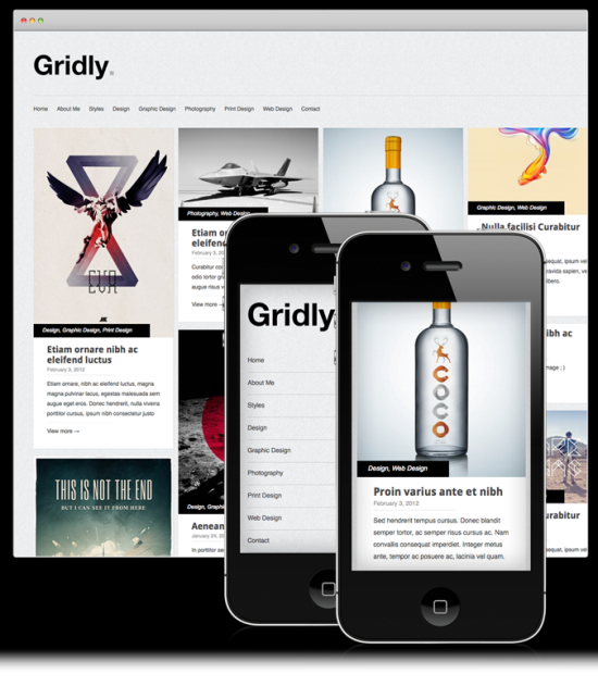 gridly minimalist portfolio wordpress theme