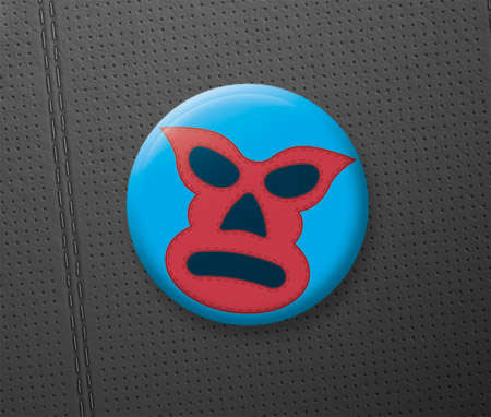 creating a mexican lucha labre mask pin