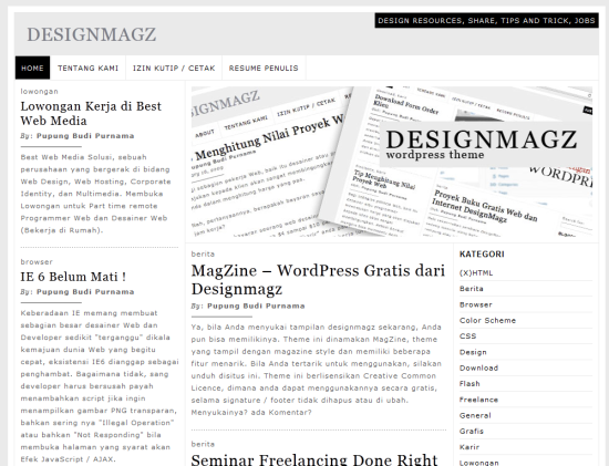 magzine free minimalist wordpress theme