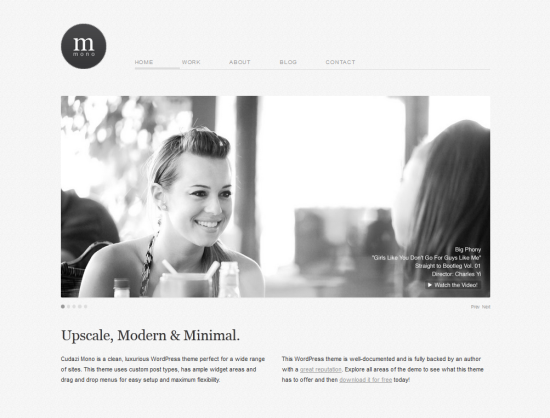 mono modern minimalist wordpress theme