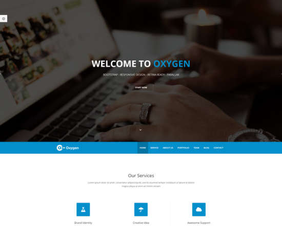 oxygen one page html template