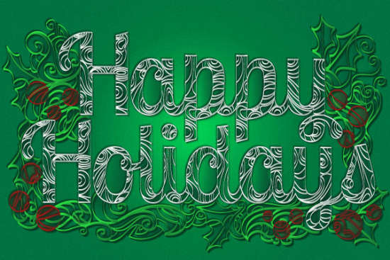 holiday greeting paper quill