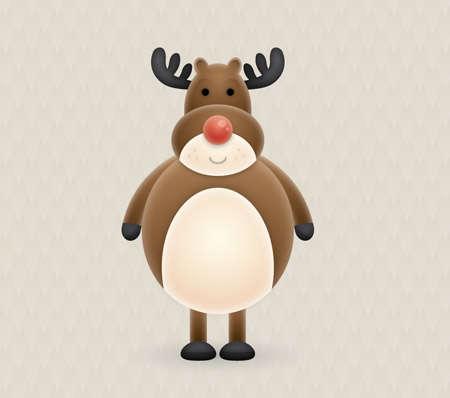 cute reindeer vector character tutorial