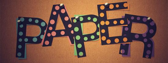 dot cutout paper free photoshop text effect tutorial