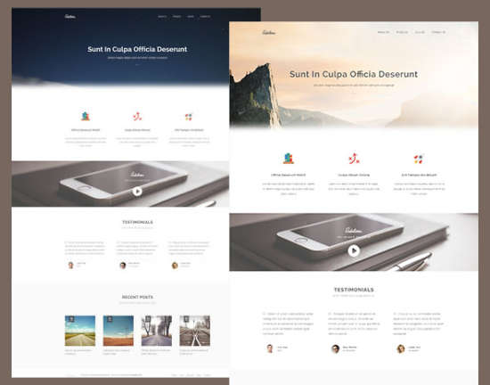sublime stunning html5css3 website template