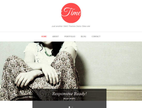time minimalist wordpress theme