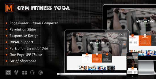 gym fitness yoga maniva wordpress theme
