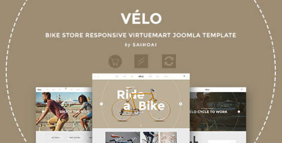 velo bicycle store responsive virtuemart template