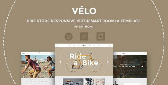 velo bicycle store responsive virtuemart template