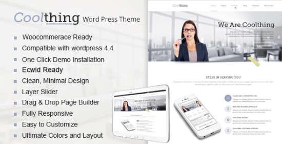 coolthing multipurpose wordpress theme