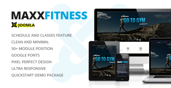 maxx fitness responsive joomla template