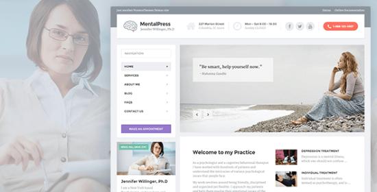 mentalpress therapy, counseling medical wp