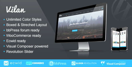 vilan corporate, shop forum wordpress theme