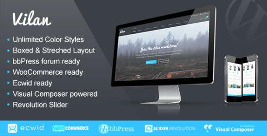 vilan corporate, shop forum wordpress theme