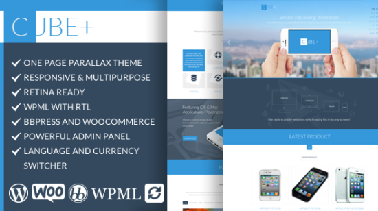 cube responsive multipurpose one page theme