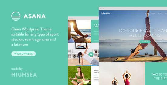 asana sport and yoga wordpress theme