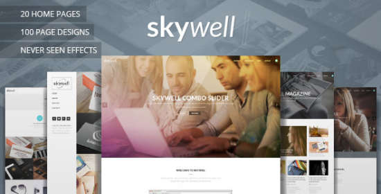 skywell multipurpose adobe muse template