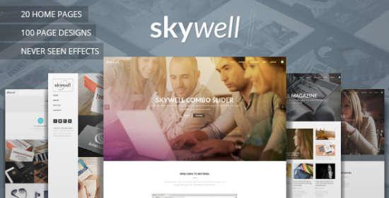 skywell multipurpose adobe muse template