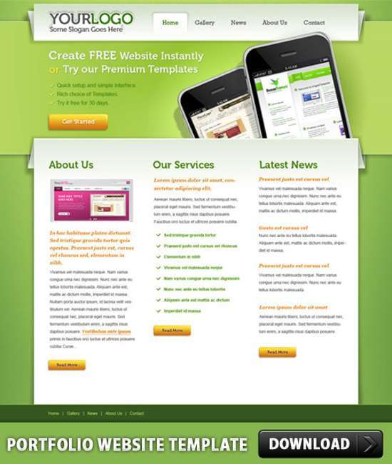 Download 15 free psd web templates xdesigns portfolio psd website template maxwellsz