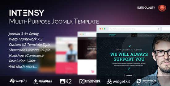 intensy multipurpose joomla template
