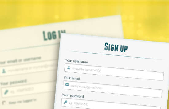 login and enrollment form