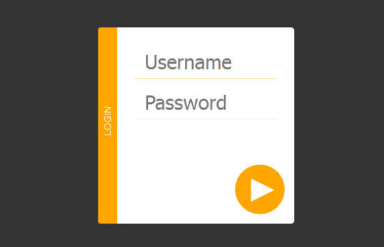 animated login form