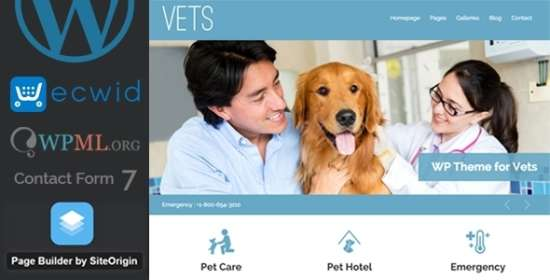 vets veterinary medical health clinic wp theme